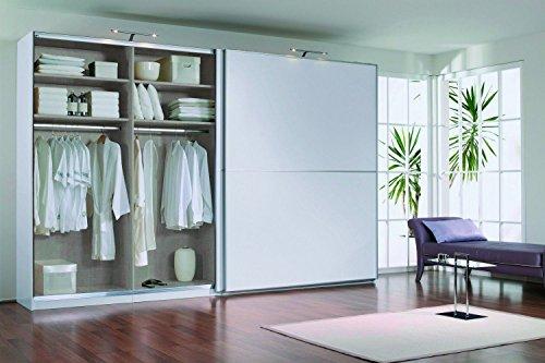 Hikenn - armadio con ante scorrevoli, colore: bianco