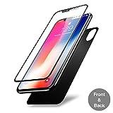 Olixar, Pellicola salvaschermo anteriore + posteriore GlassTex, in vetro, per iPhone X, colore: grigio siderale