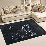 yibaihe Constellation Leo Design Schöne Einrichtung Bereich Teppich Teppich Fußmatte für Hartholz Böden Wohnzimmer Schlafzimmer wasserabweisend rutschfeste weiche, 91 x 61 cm