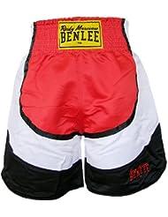 Benlee Dempsey Short de boxe pour homme Noir/gris Noir/Rouge/Blanc