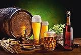 Artland Qualitätsbilder I Wandtattoo Wandsticker Wandaufkleber 60 x 40 cm Ernährung Genuss Getränke Bier Foto Braun D7QQ Bier Stillleben