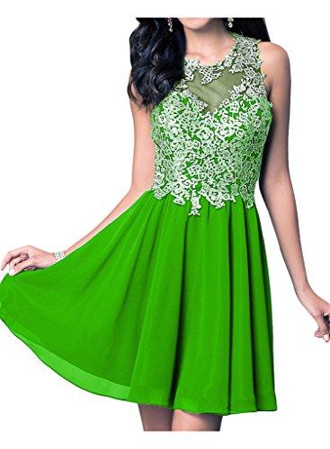 Applicazione Ivydressing donna sweet Heart punta, Chiffon cocktail dell'abito sposa giovane a lungo vestimento Bete vestito da sera Verde