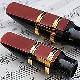 Tbest Cañas Saxofón Alto,3Pcs Resina Cañas para Saxofón Saxofon Saxo Alto Boquilla de Alto Sax Fuerza 2.5 Accesorio de Reparación de Saxofón (Rojo)