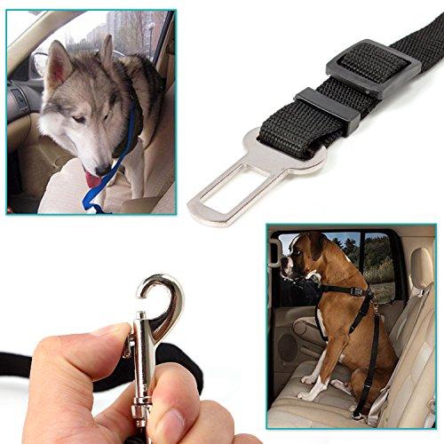 Neuftech einstellbare Auto Sicherheitsgurt Hundegurt Anschnallgurt für Hunde – Schwarz - 3