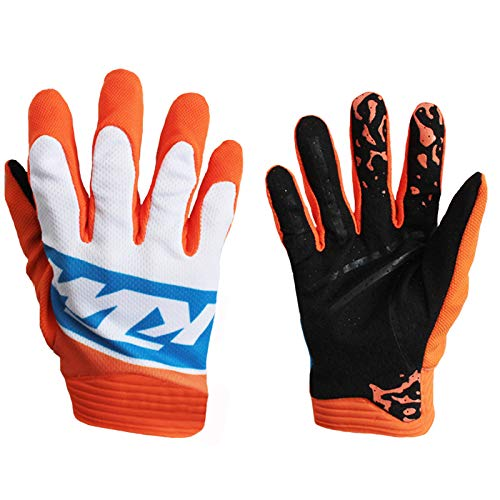 Warm your hands &World Guanti da Motociclista in Sella a Biciclette Mountain Bike Offroad Racing Guanti, Orange X