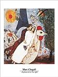 Chagall, Marc - Les fiances - Kunstdruck Artprint Gemälde - Grösse 60x80 cm + 2 St. Posterleisten Kunststoff 62 cm schwarz