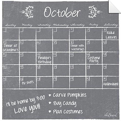 Dry Erase Decal Calendar Gray