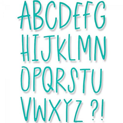 Sizzix 661040 Delikate Buchstaben Thinlits Stanzen, 28 in Packung, Stahl, mehrfarbig, 26.2 x 14.5 x 0.1 cm (Buchstaben Stanzen)