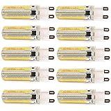 Alto brillo ONDENN G9 10 W LED de intensidad regulable de gel de Sílice 3014 SMD blanco cálido y#xFF08;220v y#xFF09;