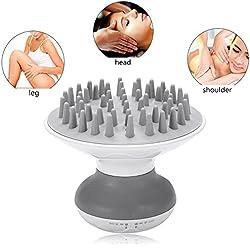 Cuir Chevelu Tête de massage massage de massage manuel avec 7modes de vibration Force et fréquence Brosse de massage électrique Massage Batterie pour cheveux tête épaule Pied