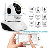 #2: SellnShip IP Camera Wireless Dome Pan/Tilt with 2-Way Audio | 720p HD Wi-Fi Security Surveillance System | Night Vision Support| 4x Digital Zoom