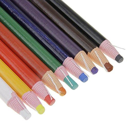 Matite colorate peel off, non serve il temperamatite, confezione da 9 pezzi con colori assortiti, per disegnare, scarabocchiare, pitturare e colorare su legno, vetro, tessuti, realizzate in Cina