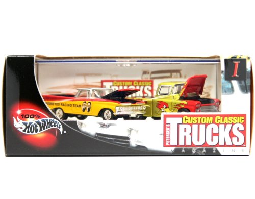 '59 EL CAMINO & '69 CHEVY APACHE * Limited Edition * Hot Wheels 2002 PETERSEN'S CUSTOM CLASSIC TRUCKS MAGAZINE 1:64 Scale 2-Car Custom Vehicle Box Set by Hot Wheels