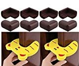 #9: Sanjana's 8 THICK Baby Child Infant Kids Safety Safe Table Desk Corner Edge guards + 2 RK's Infant Door Stoppers.(8 + 2 = 10 Pcs)