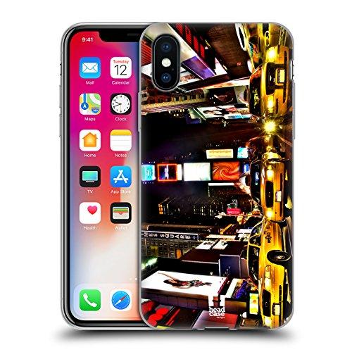 Head Case Designs Big Ben Tour De L'horloge Londres Meilleurs Endroits - Collection 2 Étui Coque en Gel molle pour Apple iPhone 4 / 4S New York Times Square