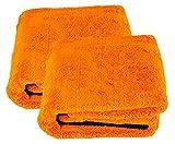 Liquid Elements 2X Orange Baby XL Trockentuch Mikrofasertuch 800 GSM 90 x 60 cm