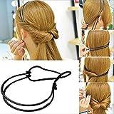 Lady Haar Hoop Haarband Elastische Gummi String Easy Hair Styling, die Werkzeug