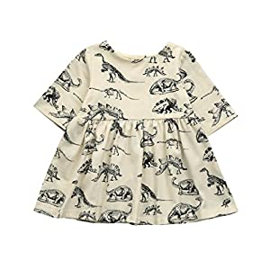 K-youth® Dinosaurio de impresión Vestidos Niña Wedding Party Birthday Dress Princesa Vestido de Fiesta Ropa Bebe Niña Recién Nacido Ropa De Manga Corta 2018 Ofertas 13