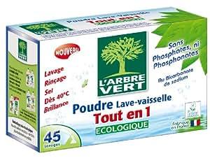 L'Arbre Vert - Poudre Lave-Vaisselle Tout en 1 - 45 Doses
