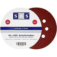 Disco de lija (120 unidades, diámetro: 125 mm, grano 20 x 40/60/80/120/180/240, 8 agujeros)