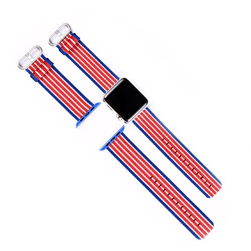 efanr Gewebe der Nylon Watch Band Ersatz für iWatch Apple Watch Strap Band Gürtel Armband Zubehör für Smart iWatch (Band Ipod Watch Apple)