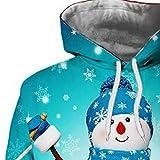 Geilisungren Damen Hoodie Weihnachten Pullover Kapuzenpullover Festival Schneemann Druck Sweatshirt mit Känguru Tasche Frauen Langarm Bluse Christmas Xmas Party Kostüm Vergleich
