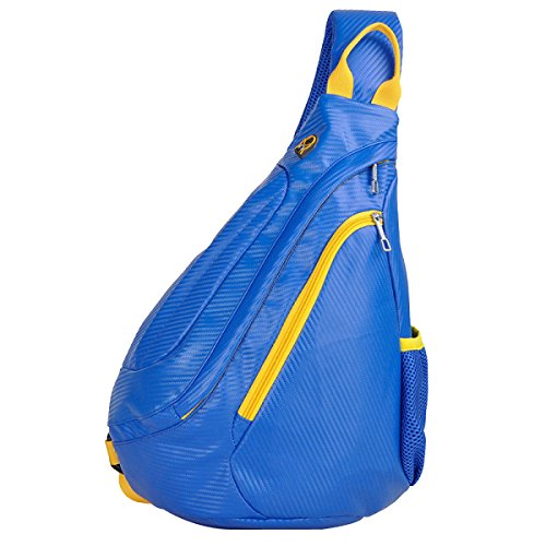 Männer Und Frauen Schulter Brust Pu Rucksack Messenger Bag Blue
