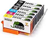 JARBO Compatible Ink Cartridges Replacement for HP 364 XL Ink Cartridges 5 COLOR (2 Black,1 Photo Black,1 Cyan,1 Magenta,1 Yellow) Work with HP Photosmart 7510 7520 7515 B8550 5510 5511 5512 5514 5515 5520 5522 5524 6510 6520 6512 6515 B8558 C5370 C5373 C5324 C6388 D5460 D5463 B110a B110c B010a B010b B111a B109a B109b C309a C309c B209a B210a