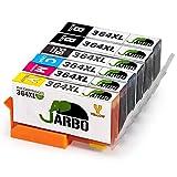 JARBO Kompatibel HP 364XL Druckerpatronen 5 Farbe Hohe Kapazität mit Chip kompatibel zu HP Photosmart 5510 5511 5512 5514 5515 5520 5522 5524 6510 6520 6512 6515 7510 7520 7515 B8550 B8558 B110c B010a B010b B111a C5324 C5370 C5373 C5383 C5388 C5390 C5393 C6324 C6375 C6380 C6388 D5460 D5463 D5468 D7560 C309a C309g C310a C310c C410a B209a B210a B210c B210d B210e HP Deskjet 3070A (2 Schwarz,1 Foto Schwarz,1 Cyan,1 Magenta,1 Gelb)