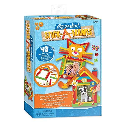 Artzooka - Kreatives Bastelset für Kinder - DIY Bilderrahmen von Popsicle Sticks - Kunst und Handwerk für Kinder - SMU-3050