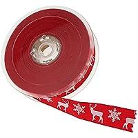 CaPiSo 10m Spitze Geschenkband Spitzenband 45mm breit Rot