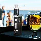 IMECIG® Q5 E Zigarette Starterset 80W Box Mod Set , Vape Starter Kit + Akkuträger + Top Refill Vaporizer + Temperaturmodus, 0.5 ohm Sub Ohm Elektrische Zigarette, mit, Nikotinfrei, Schwarz , (Eine 18650 Batterie im Lieferumfang) -