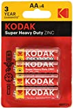 KODAK Batterie Extra Heavy Duty Zinc Blister da AA x 4 1,5V