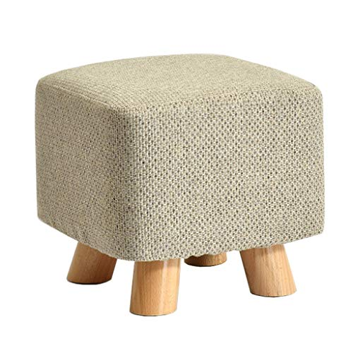 Defeng Massivholz-Hocker/Mode Kleine Bank/kreative Sofa Bank/Stoff Hocker/Haushalt Couchtisch Hocker/Wechsel Schuh Bench