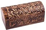 """Schatzkiste """"Baum des Lebens"""", Geschenkbox aus Holz mit keltischem Symbol 16x8x8cm Holz-Box"""