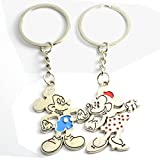 Faynci Mickey Mouse & Minnie Couple Key Chain Gift for Valentine Day