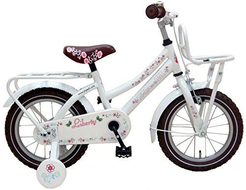 Vlo-Enfant-Fille-Liberty-Urban-14-Pouces-avec-Roues-de-Stabilization-Amovible-Blanc
