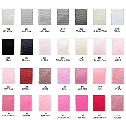 mdribbons 3/4 Inch 100 Yards Solid Double Face Satin Ribbon 196 Colors For Choice Leave Message Of which Color You Want by
