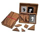 Tangram, das älteste Legespiel der Welt, Doppeltangram, Tangram für 2 Personen, Holz, Legespiel, Holzspiel, Denkspiel, Knobelspiel, Geduldspiel aus Holz