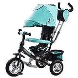 Dreirad Kinder Dreirad 1-3 Jahre alt Multifunktions Baby Fahrrad Kinderwagen Wagen Kinder 3 Räder ( Farbe : Blau )