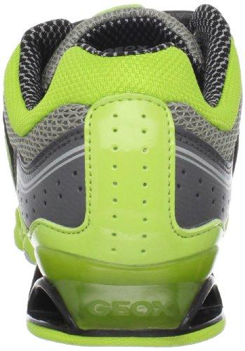 Geox, Sneaker bambino multicolore (Grey/Lime)