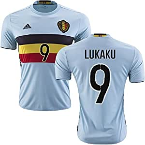 LUKAKU #9 BELGIUM EURO 2016 AWAY JERSEY