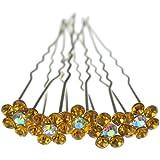 Jewellery of Lords Ambre Fleur Couleur: Cristal AB 10épingles à cheveux Bobby broches