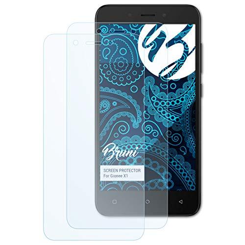 Bruni Schutzfolie für Gionee X1 Folie, glasklare Bildschirmschutzfolie (2X)