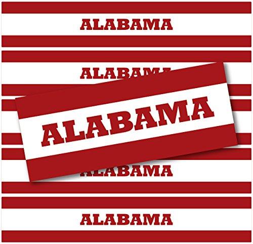 (24geschlossen, wasserdicht Wasser Flasche Etiketten: Alabama, Clemson, Georgien, Florida & Lousiana (Alabama))