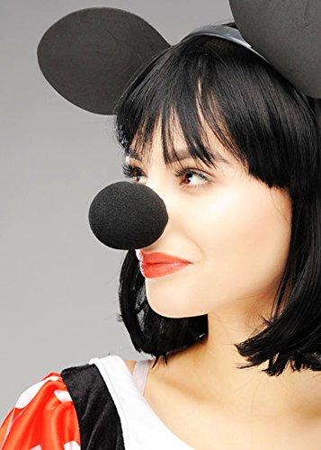 Minnie und Mickey-Mouse-Stil schwarz Schwamm-Nase (Magic Mickey Mouse Kostüm)