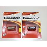 Panasonic CR123A Batterie au lithium 3V Lot de 2packs d'expiration 2024