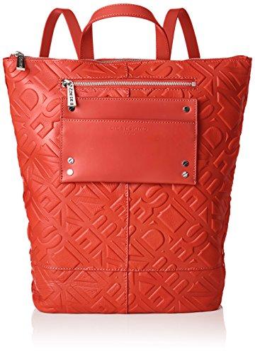 Liebeskind Berlin Damen Backpackm Logo Rucksackhandtasche, Rot Red, 11x48x36 cm
