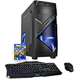 ULTRA FAST 4.2GHz OC Quad Core AMD Desktop Gaming Office Home Family PC Computer (16GB RAM, 1TB Hard Drive, Radeon R7 Series Graphics, Gaming Keyboard and Mouse) (No Operating System, Nova Blue - 197323)