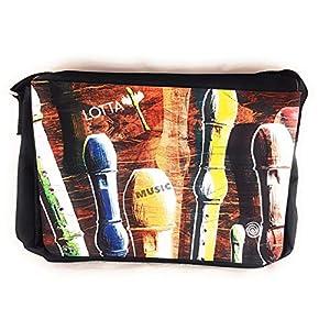 Notentasche Dokumententasche Schultasche - für Blockflöte, gerne auch mit Namen personalisiert